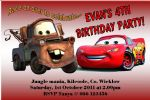 Personalised Disney Cars Invitations Design 1